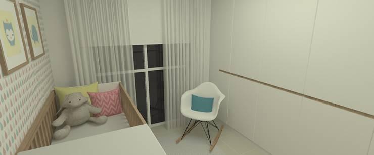 Quarto de Bebe 2:   por Carolina Mendonça Projetos de Arquitetura e Interiores LTDA,