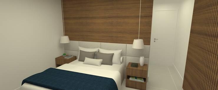 Apartamento Clean:   por Carolina Mendonça Projetos de Arquitetura e Interiores LTDA