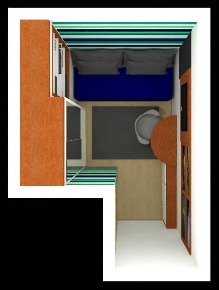 Dormitório Menino HP: Quartos  por Nádia Catarino - Arquitetura e Design de Interiores