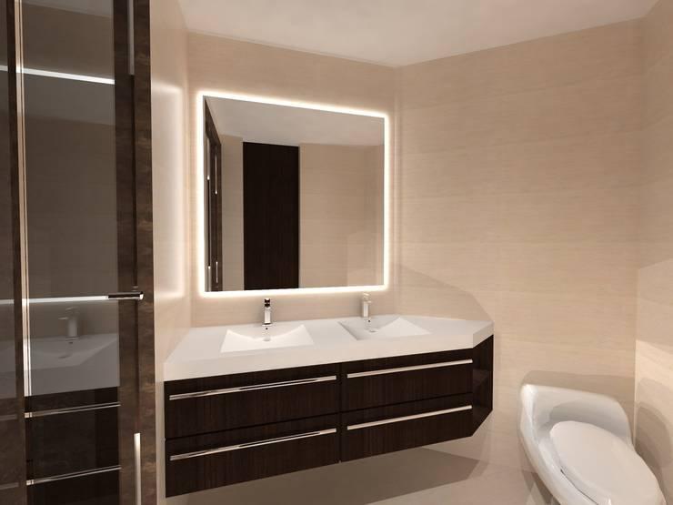 Baño Principal: Baños de estilo  por Vowen, Minimalista