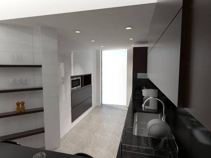 Remodelación Penthouse: Cocinas de estilo  por Vowen, Minimalista
