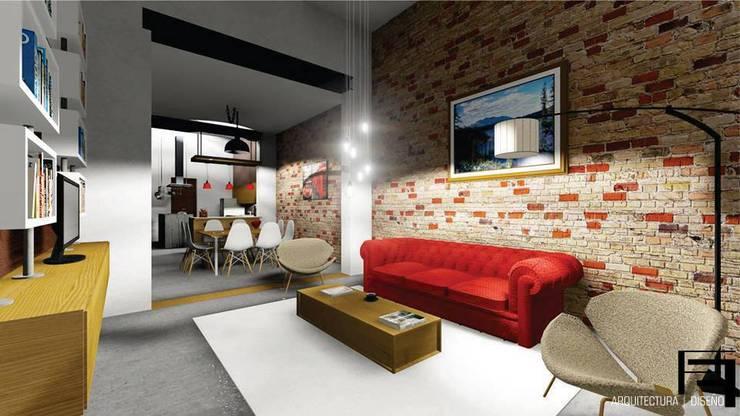 Reforma de vivienda antigua ¨GARDELLA¨: Livings de estilo  por ARQ. María Florencia Fernández