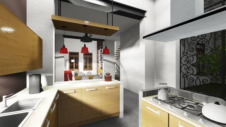 Reforma de vivienda antigua ¨GARDELLA¨: Cocinas de estilo  por ARQ. María Florencia Fernández