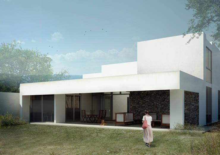 RESIDENCIA CUMBRES: Casas de estilo  por TAQ arquitectura
