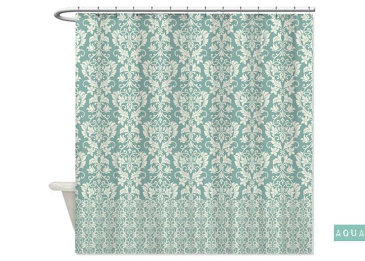 Cortina de baño Aqua de Luc*At diseños Clásico