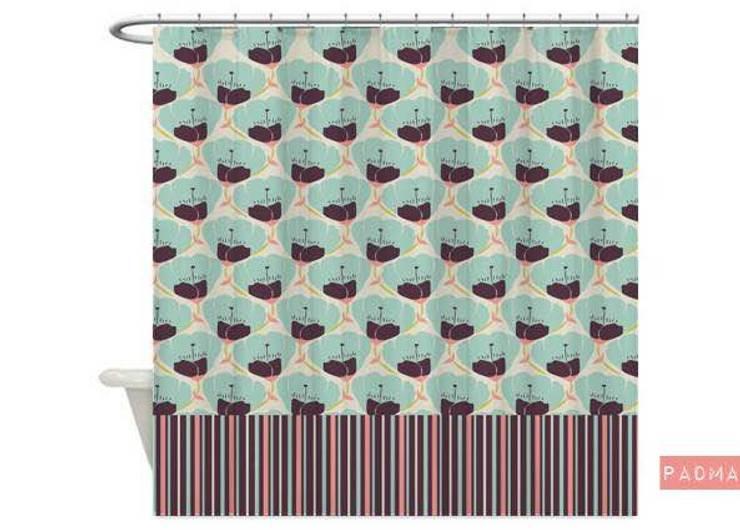 Cortina de baño Padma:  de estilo  por Luc*At diseños,Tropical