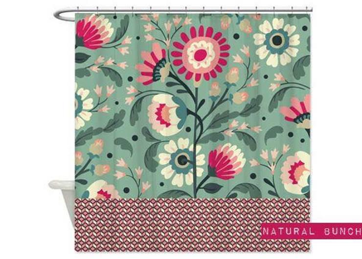 Cortina de baño Natural Bunch:  de estilo  por Luc*At diseños,Tropical