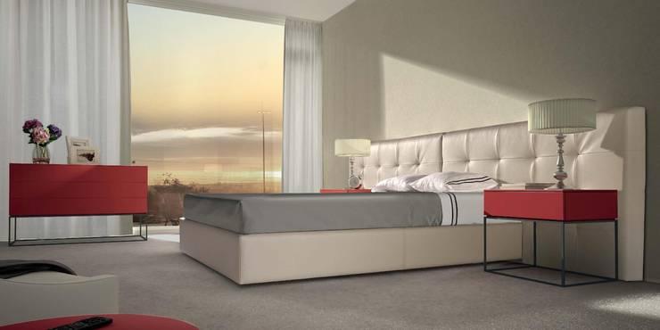 Mobiliário de quarto Bedroom furniture www.intense-mobiliario.com  Jock http://intense-mobiliario.com/product.php?id_product=3223: Quarto  por Intense mobiliário e interiores;