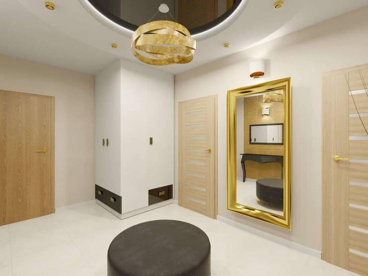 Wnętrze bogato zaaaranżowanego korytarza: styl , w kategorii Korytarz, przedpokój zaprojektowany przez Bohema Design