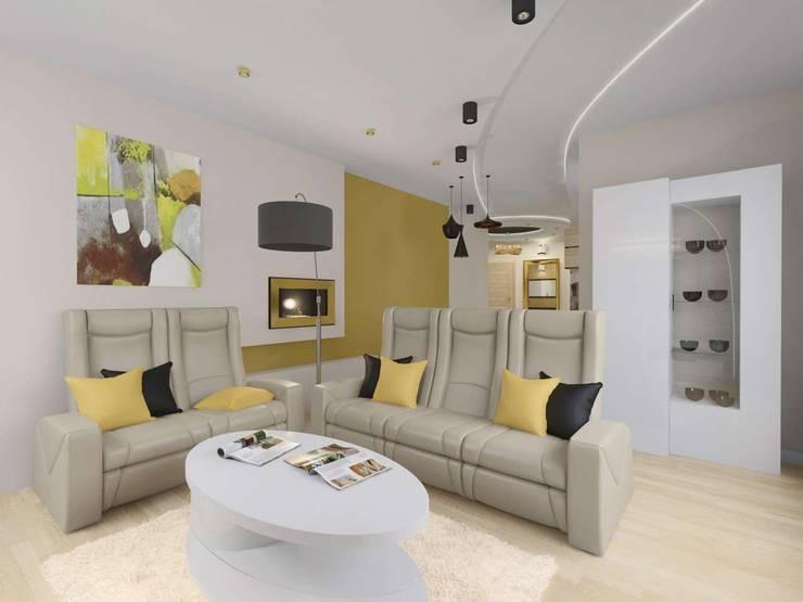 Aranżacja wnętrza salonu: styl , w kategorii Salon zaprojektowany przez Bohema Design