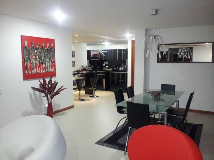 Living room by MS - CONSTRUCCIONES MARIO SOTO & Cìa S.A.S.