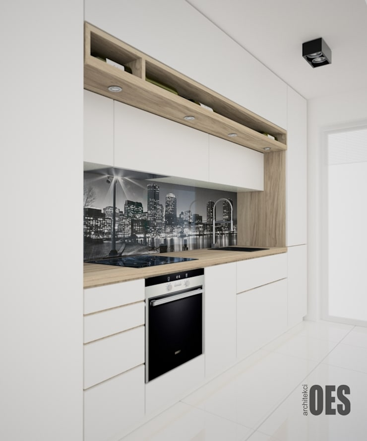 Projekt wnętrz mieszkania w Katowicach: styl , w kategorii Kuchnia zaprojektowany przez OES architekci