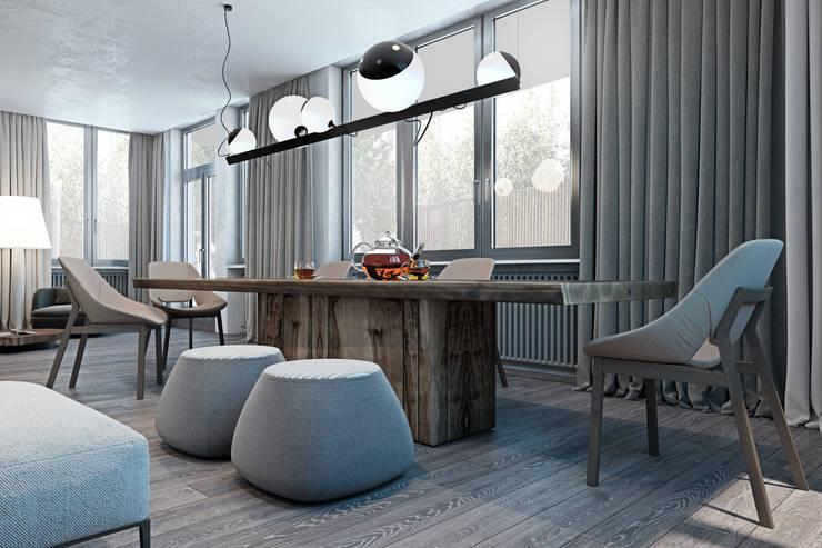 Cozy flat in Kiev centre: Столовые комнаты в . Автор – Diff.Studio