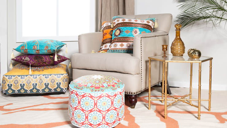 eclectic Living room تنفيذ Jana Mironowitz