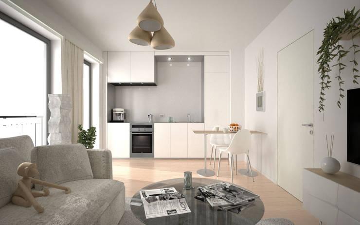 wizualizacja mieszkania - POZNAŃ: styl , w kategorii  zaprojektowany przez renderPLAN