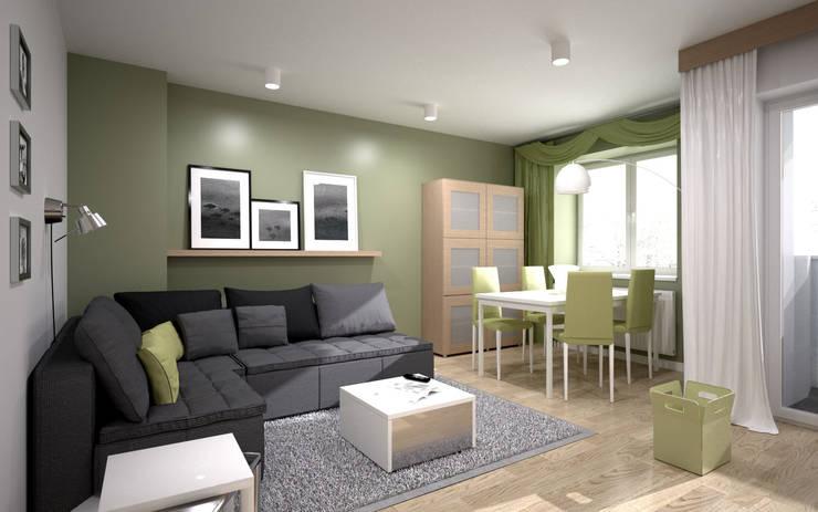 wizualizacja mieszkania - WROCŁAW: styl , w kategorii  zaprojektowany przez renderPLAN