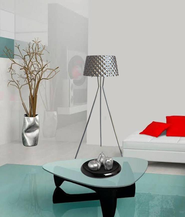 Sofía: Livings de estilo  por Angelo Luz + Diseño