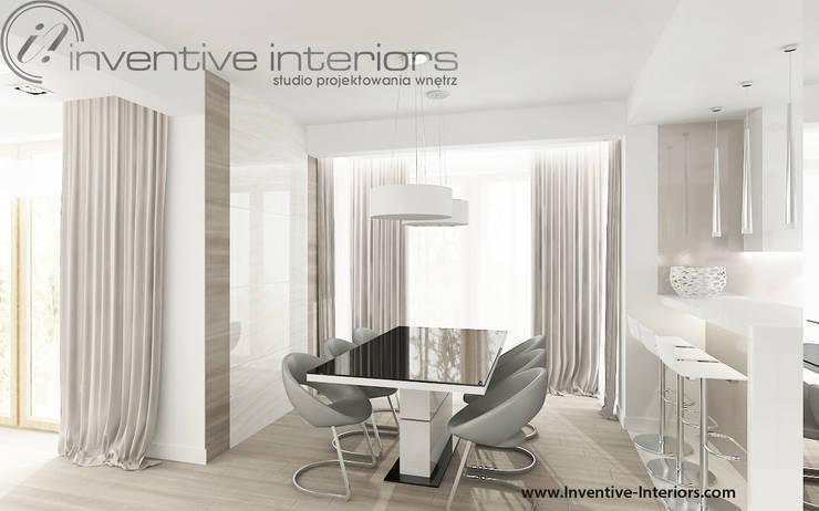 Jasna jadalnia: styl , w kategorii Jadalnia zaprojektowany przez Inventive Interiors,Nowoczesny