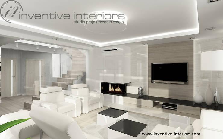 Jasny salon: styl , w kategorii Salon zaprojektowany przez Inventive Interiors,Nowoczesny