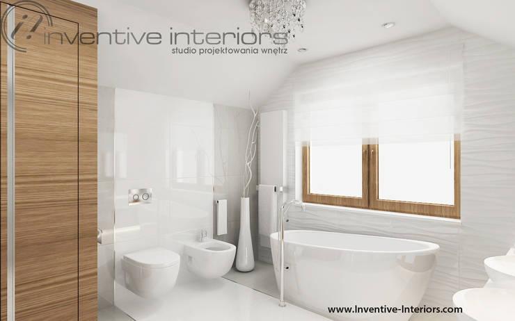 Jasna duża łazienka: styl , w kategorii Łazienka zaprojektowany przez Inventive Interiors,Nowoczesny