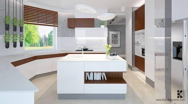modern Kitchen by Klaudia Tworo Projektowanie Wnętrz Sp. z o.o.