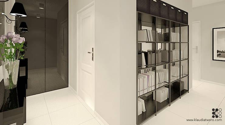 Dom w Grójcu: styl , w kategorii Korytarz, przedpokój zaprojektowany przez Klaudia Tworo Projektowanie Wnętrz Sp. z o.o.,Nowoczesny