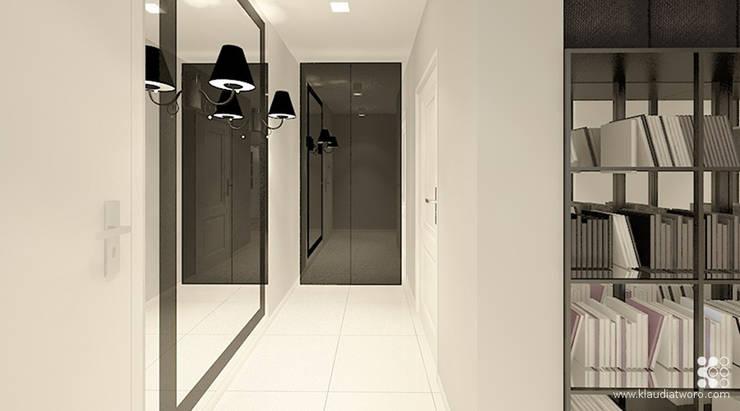 Dom w Grójcu: styl , w kategorii Korytarz, przedpokój zaprojektowany przez Klaudia Tworo Projektowanie Wnętrz Sp. z o.o.