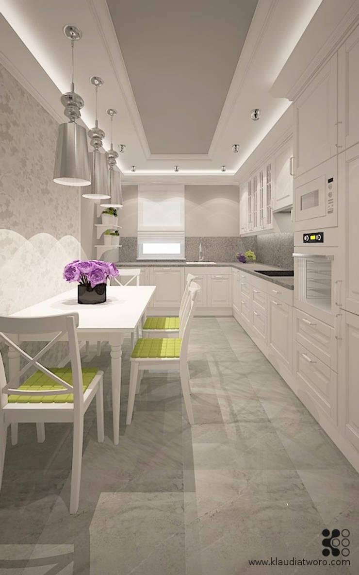 Dom w Grójcu: styl , w kategorii Kuchnia zaprojektowany przez Klaudia Tworo Projektowanie Wnętrz Sp. z o.o.,Nowoczesny