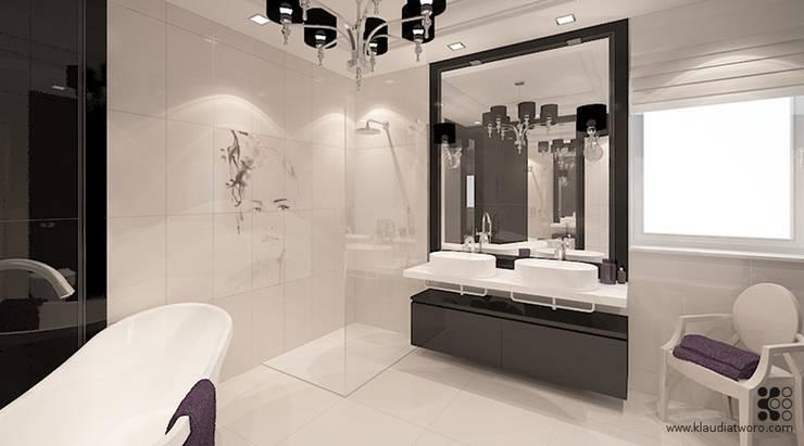 Dom w Grójcu: styl , w kategorii Łazienka zaprojektowany przez Klaudia Tworo Projektowanie Wnętrz Sp. z o.o.,Nowoczesny