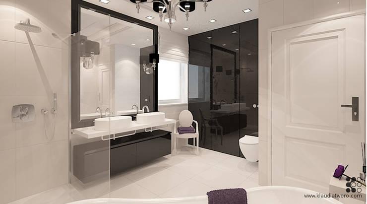 Bathroom by Klaudia Tworo Projektowanie Wnętrz Sp. z o.o.