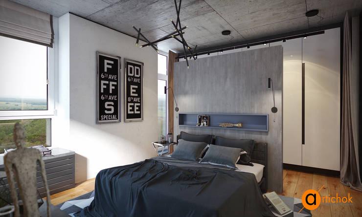 Camera da letto in stile  di Art-i-Chok