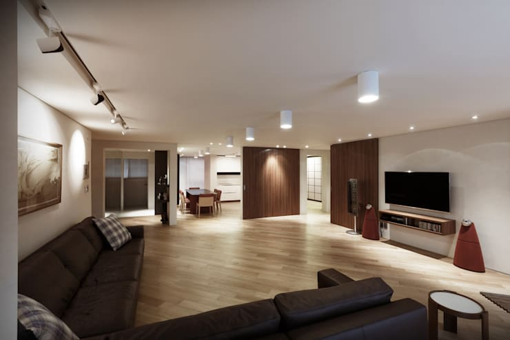 Wohnzimmer von Qua.D, Modern