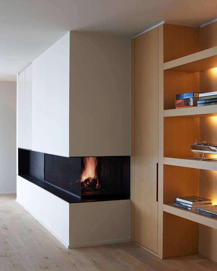 Lareiras Metalfire - Universal Lenha (Sem Vidro): Salas de estar  por Biojaq - Comércio e Distribuição de Recuperadores de Calor Lda
