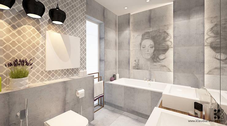 Łazienka z arabeską: styl , w kategorii Łazienka zaprojektowany przez Klaudia Tworo Projektowanie Wnętrz Sp. z o.o.,Nowoczesny