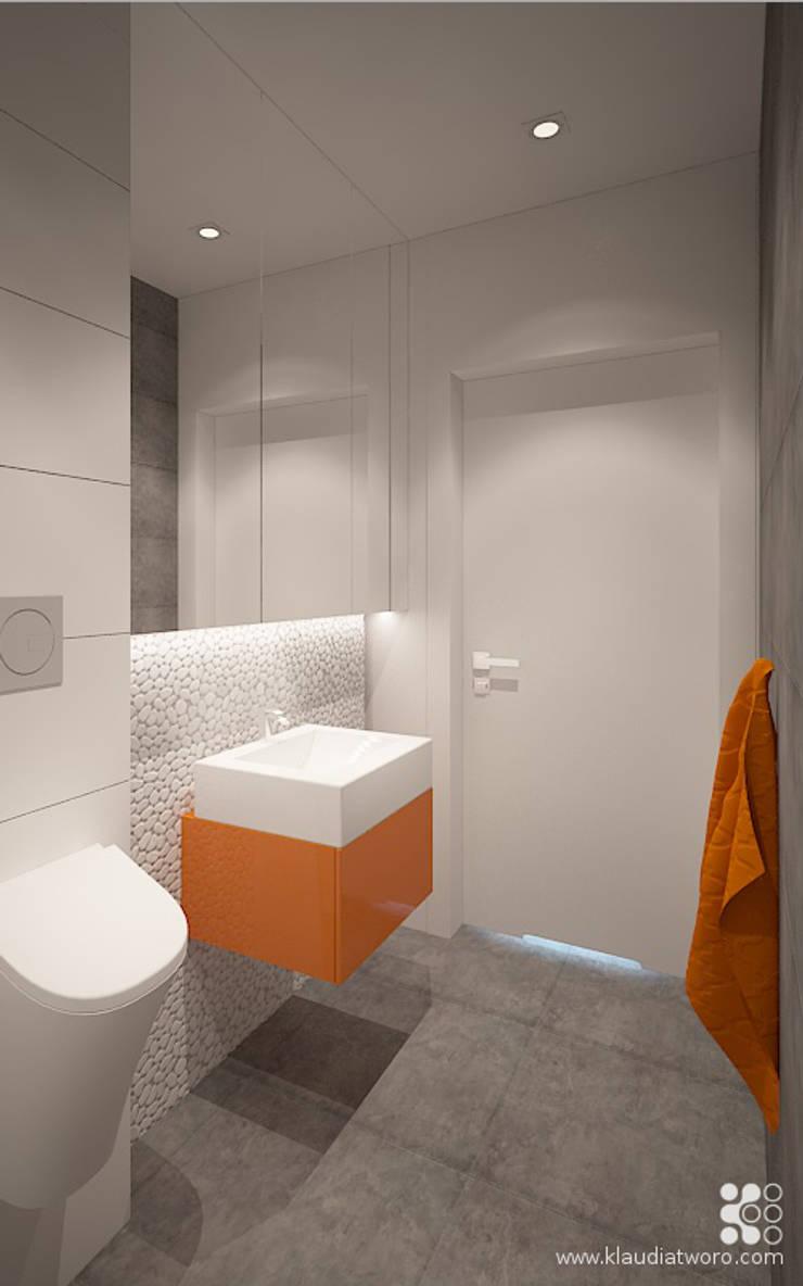 Baños de estilo moderno de Klaudia Tworo Projektowanie Wnętrz Sp. z o.o. Moderno