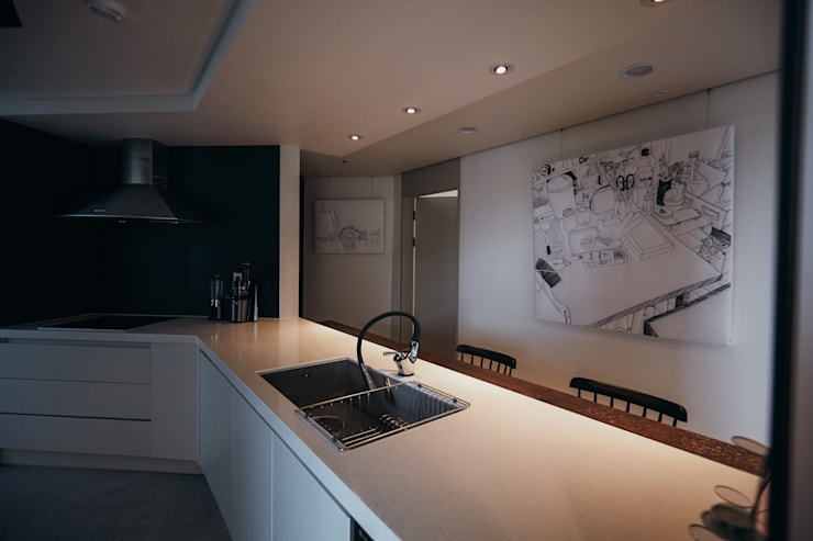 분당구 수내동 아파트 (before& after) : 샐러드보울 디자인 스튜디오의  주방