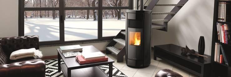 Salas de estilo ecléctico por Biojaq - Comércio e Distribuição de Recuperadores de Calor Lda