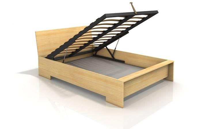 Łóżko sosnowe Visby Lagerkvist High BC: styl , w kategorii Sypialnia zaprojektowany przez visby.pl