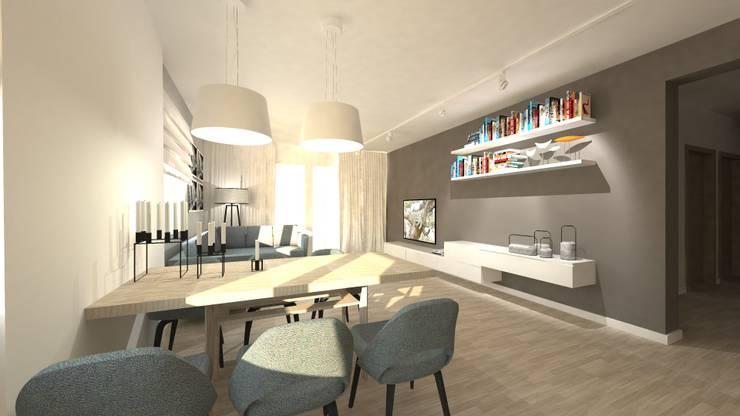 Salon z jadalnią: styl , w kategorii Salon zaprojektowany przez Gil Architekci