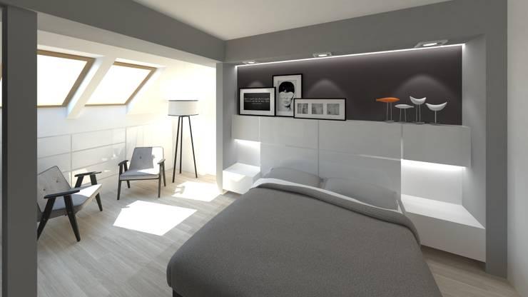 Sypialnia: styl , w kategorii Sypialnia zaprojektowany przez Gil Architekci