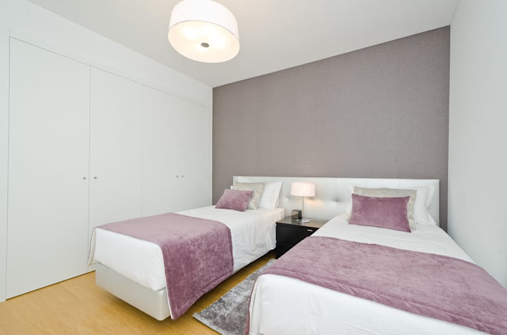 غرفة نوم تنفيذ Simple Taste Interiors