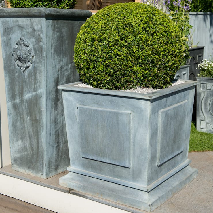 Zinc Planters by A Place In The Garden Ltd. | homify on bucket planters, round corrugated planters, urn planters, stone planters, lead planters, resin planters, iron planters, aluminum planters, tall planters, long rectangular planters, window boxes planters, stainless steel planters, corrugated raised planters, old planters, chrome planters, plastic planters, pewter planters, large planters, copper finish planters, wall mounted planters,
