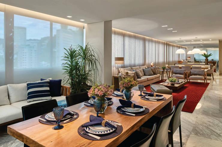 Apartamento .CB: Terraços  por Amis Arquitetura & Design