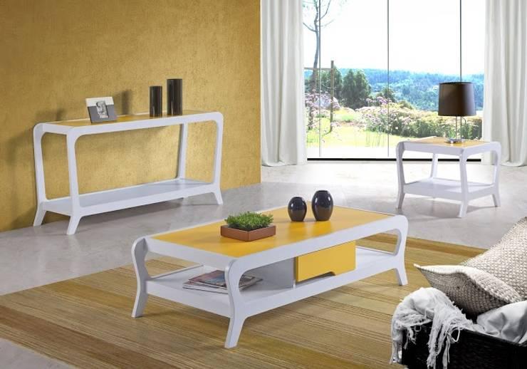 Mesa de Centro Marley 1 Gaveta - Maxima Móveis: Sala de estar  por JEB MOVEIS