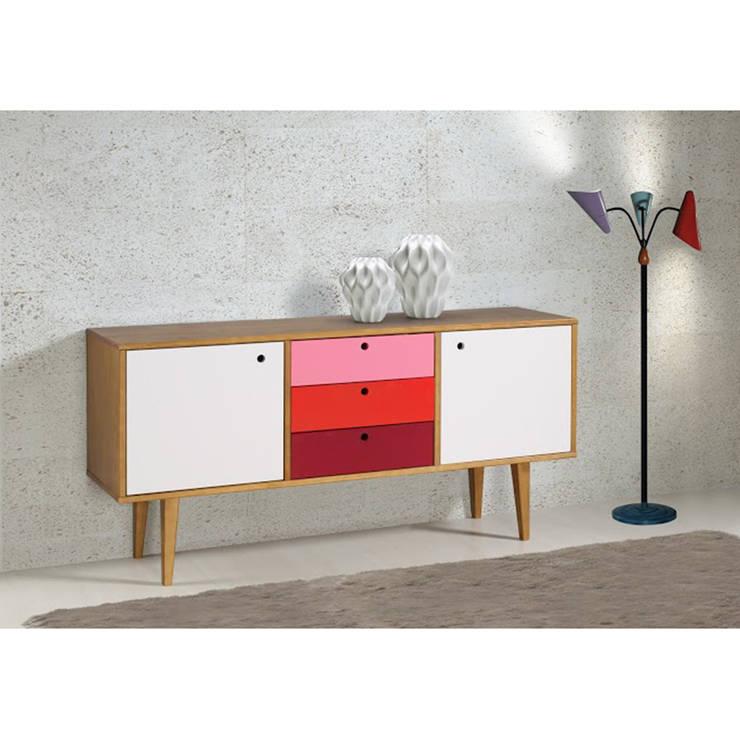 Balcão Buffet Vintage 2 Portas e 3 Gavetas - Maxima Móveis: Sala de estar  por JEB MOVEIS