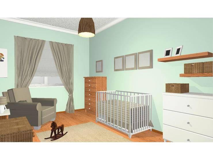 Simulação 3D: Quarto de crianças  por Once Upon a Trash
