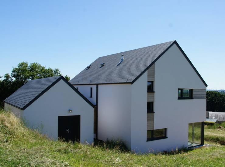 Maison passive à Durnal: Maisons de style de style Moderne par Bureau d'Architectes Desmedt Purnelle