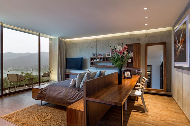 modern Bedroom by BURO ARQUITECTURA