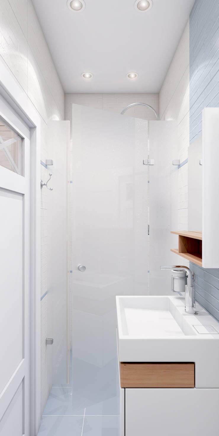 Deep Blue: Ванные комнаты в . Автор – Marina Sarkisyan, Эклектичный
