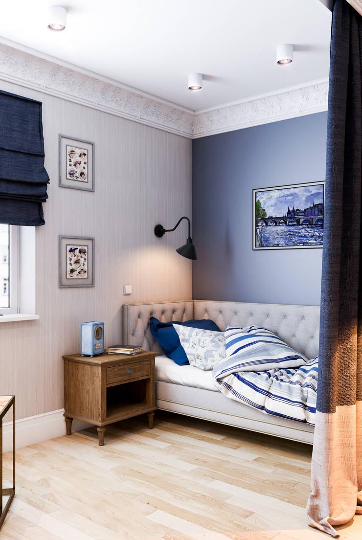 Deep Blue: Спальни в . Автор – Marina Sarkisyan, Эклектичный